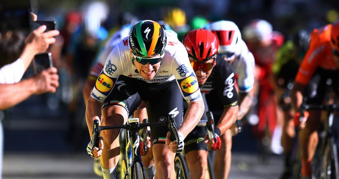 Sam Bennet en la tercera etapa del Tour de Francia