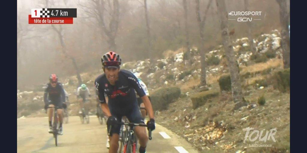 Ataque de ramiso rosa en Mont Ventoux