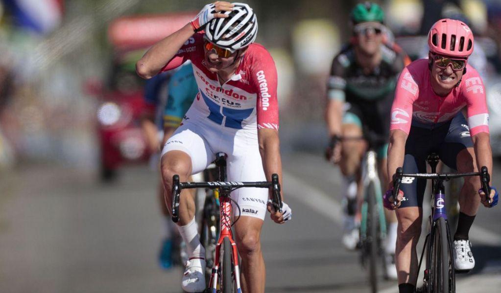 Mathieu Van Der Poel ganando la Amstel Gold Race 2019