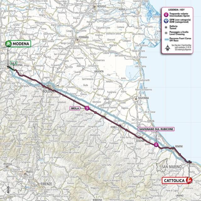 Planimetría etapa 5 Giro de Italia