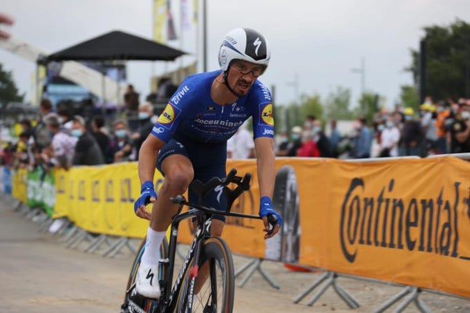 Julian Alaphilippe en la contrarreloj del Tour de Francia