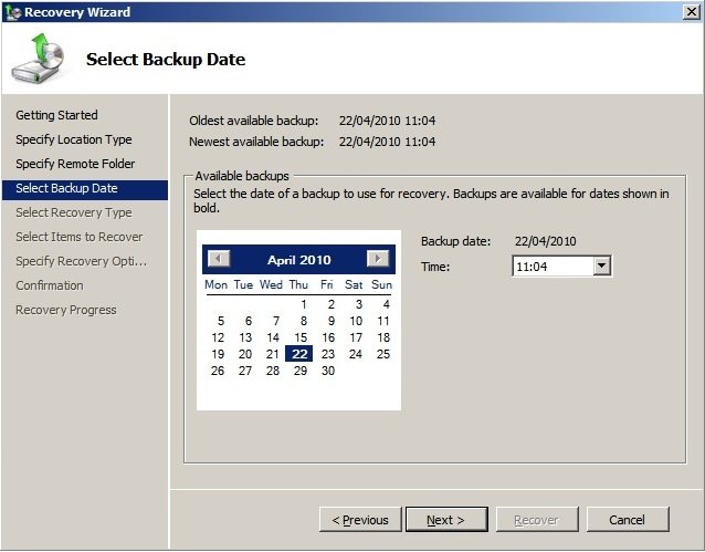 Mailbox Recovery Exchange 2010 (3/6)