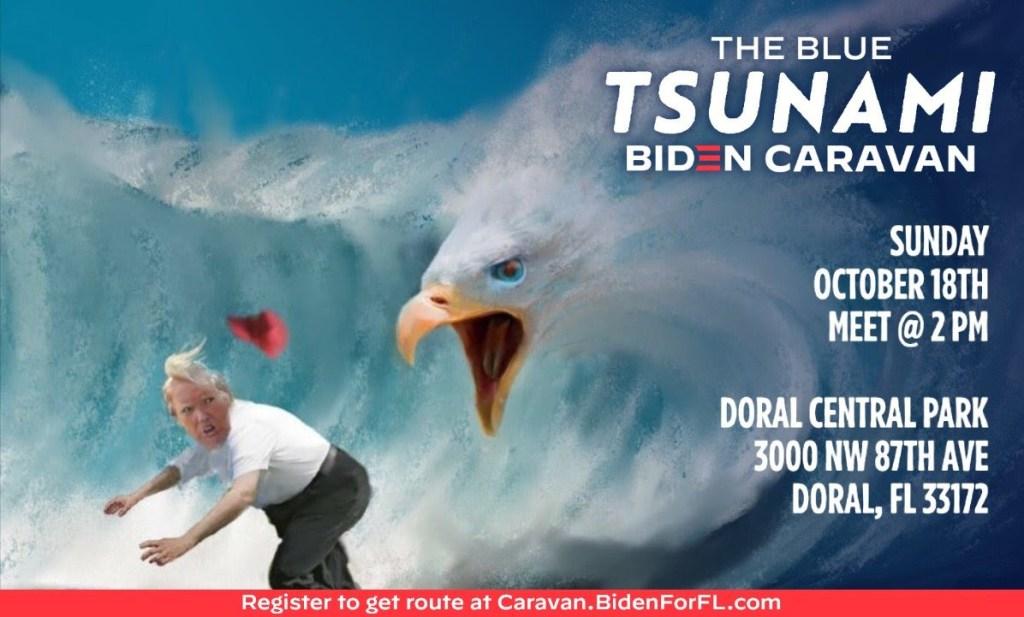 Blue Tsunami Biden Caravan