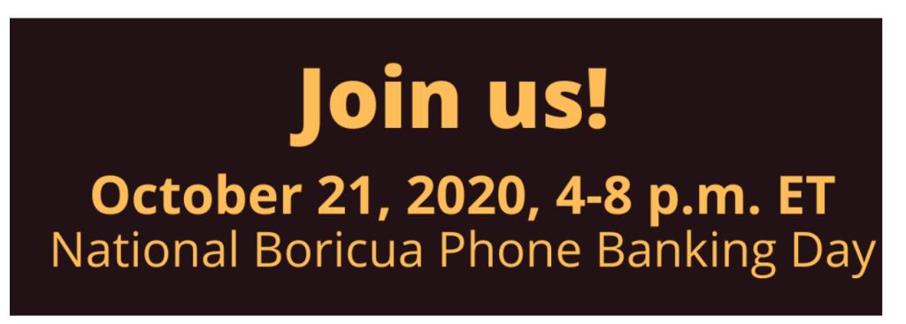 Boricua Phone Banking Day