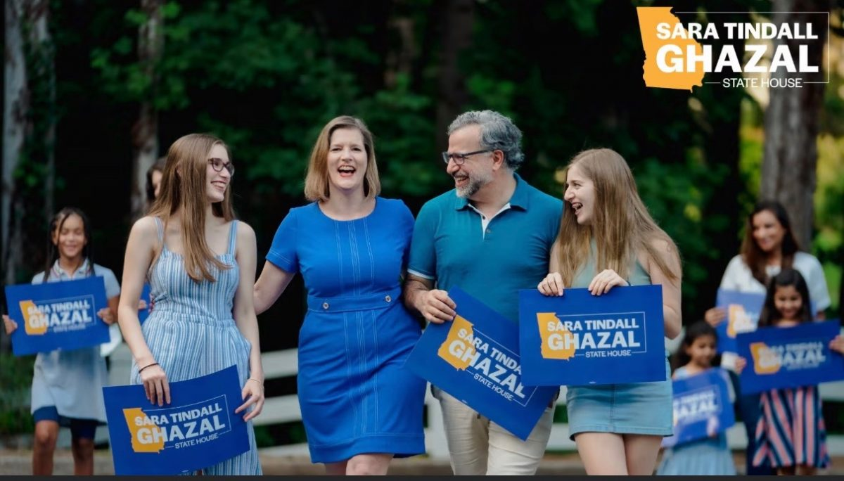Sara Tindall Ghazal and family,, Running for State House