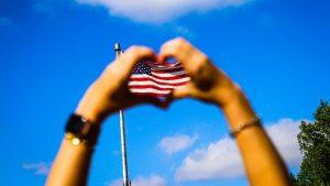 flag heart
