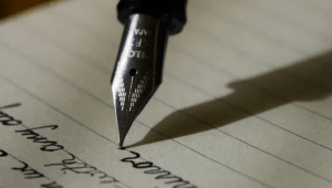 Old fashioned pen and letter