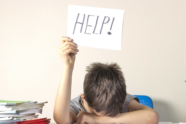 School child in need of help