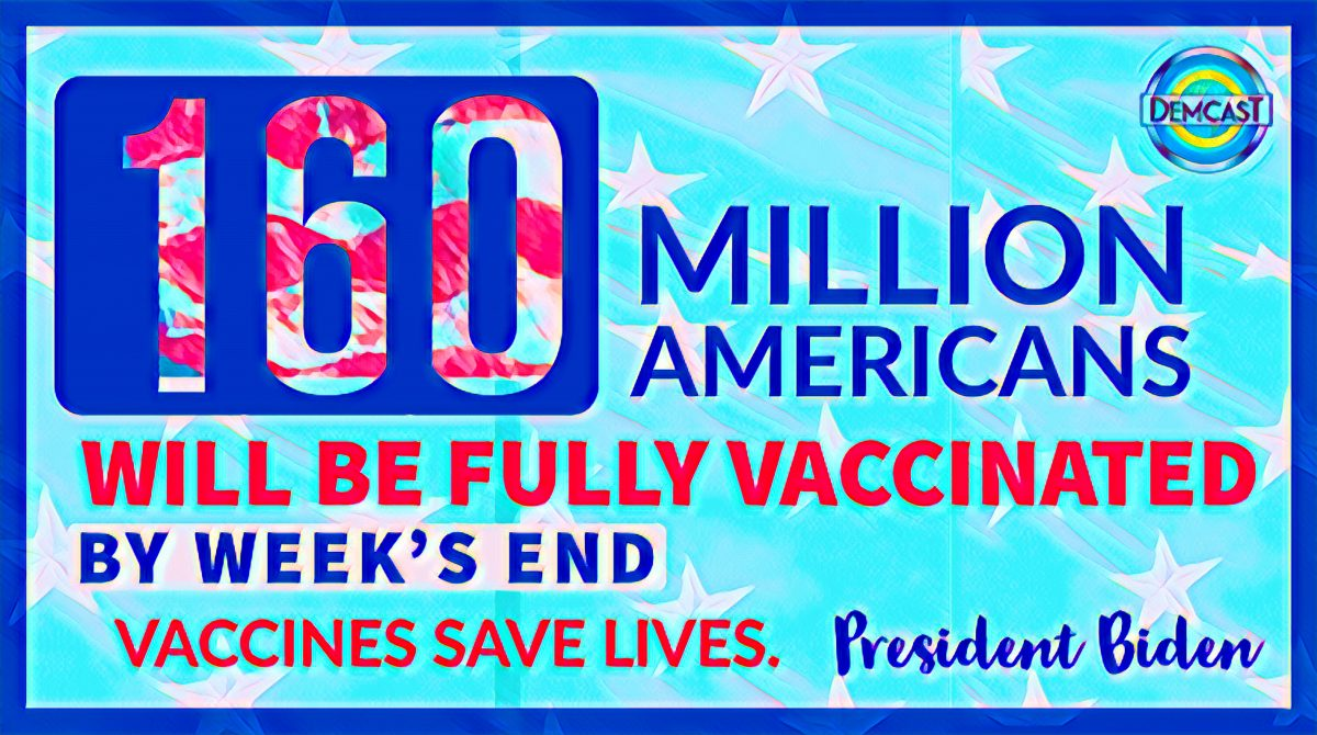 160 million Americans vaccinated