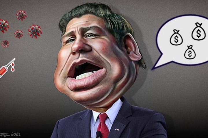 Ron DeSantis Covid Caricature