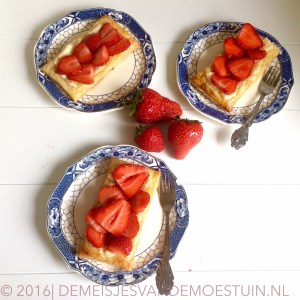 aardbeien gebakjes voor vaderdag