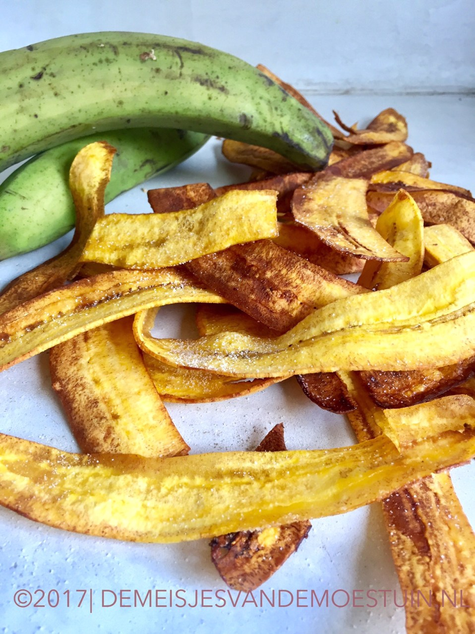 bananenchips van bakbananen maken