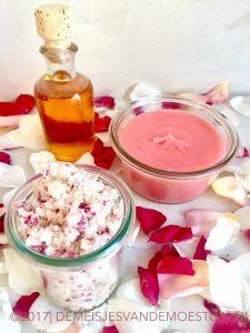 maak je eigen rozen cosmetica