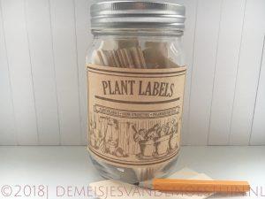 houten plantlabels