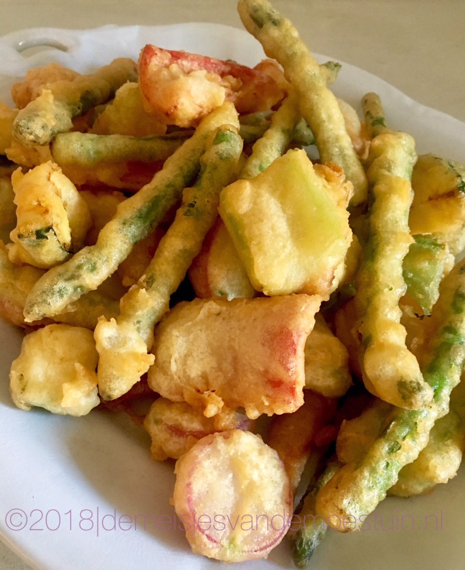 fritto misto van voorjaarsgroente