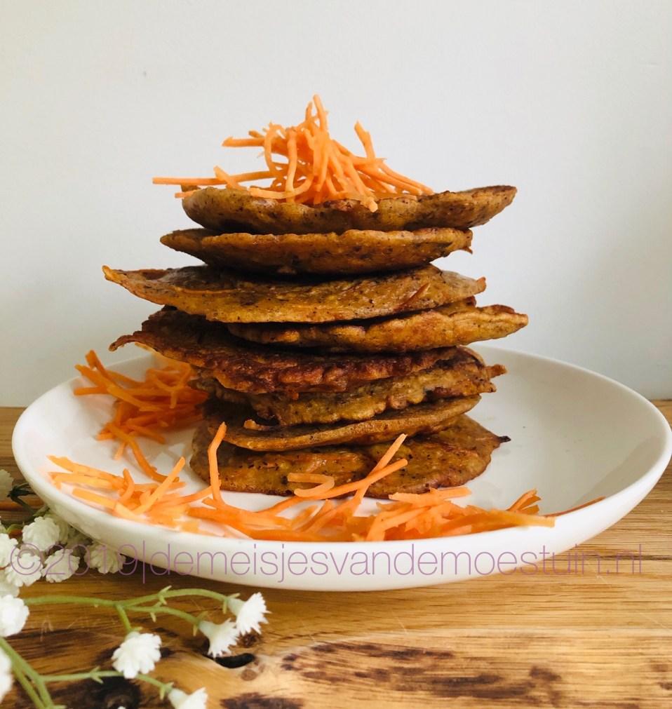 hazelnoot wortelpannenkoekjes