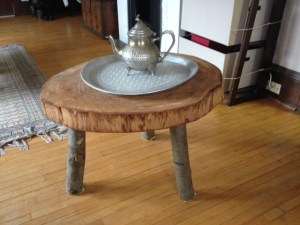 Wood carved coffee table I