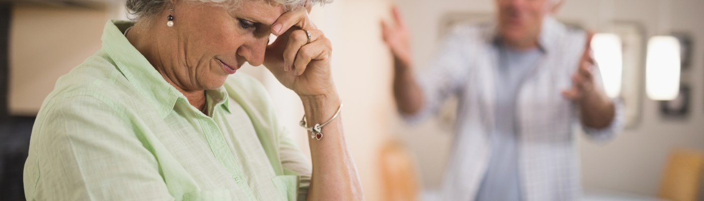 Person with dementia arguing with caregiver. I offer services to help deal with these problems.