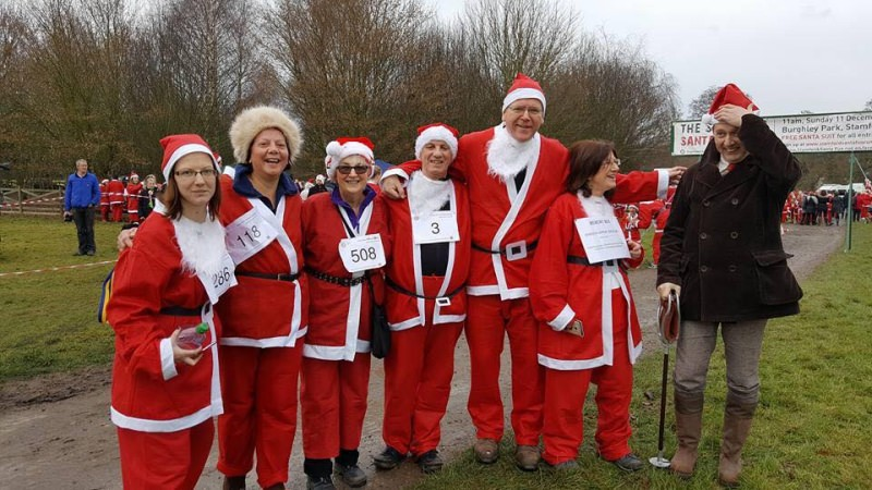 Dementia Support Team Memory Box at Stamford Santa Fun Run 2016