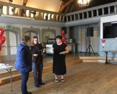 Danie presenting our donation to a charity chosen by The Danish Invader as a token of our gratitude for their ongoing support