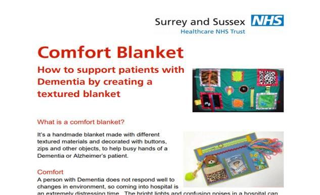 Comfort Blanket for dementia