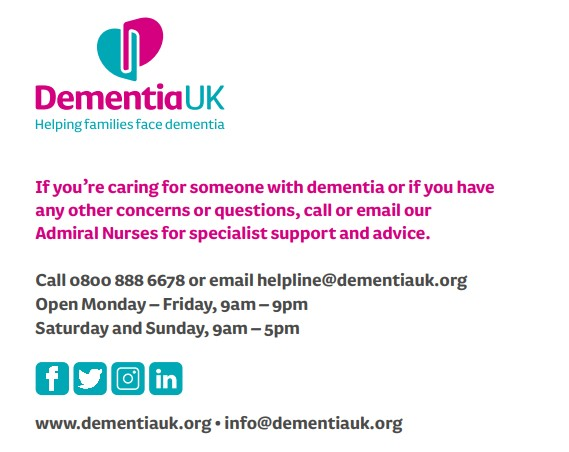 Dementia UK contact page