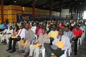 Shaeholders of Banks DIH at their company's 60th Annual General Meeting at Thirst Park, Georgetown on Saturday, 23rd January, 2016