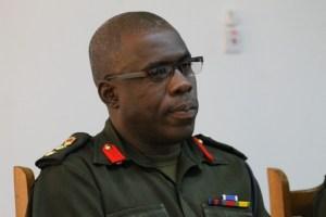 Commandant of the Guyana People's Militia, Colonel Patrick West.