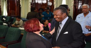 PPP Chief Whip Gail Teixeira and Speaker Dr Barton Scotland