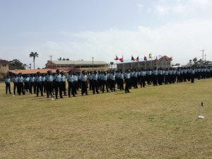 Recently graduated members of the Guyana Police Force.