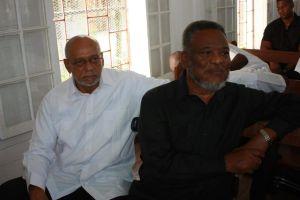 Former President Donald Ramotar and Former Prime Minister Samuel Hinds