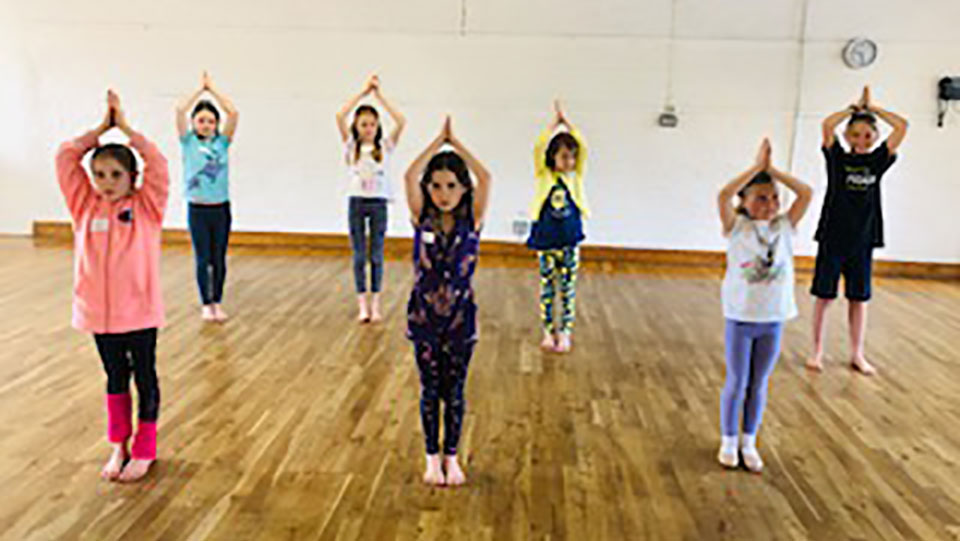 Children dancing at the Easter Dance Workshop 2019