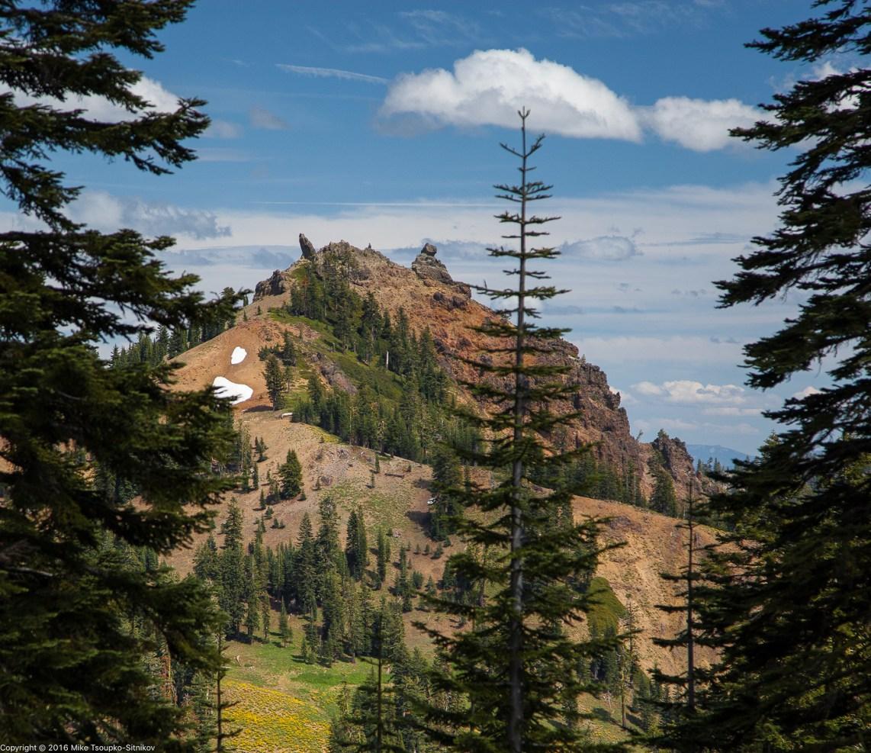 Diamond Peak - a view from Ridge Lake Trail