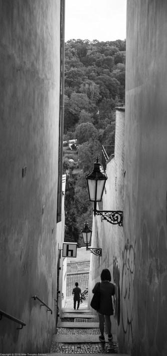 Prague. Hradčany. A staircase alley