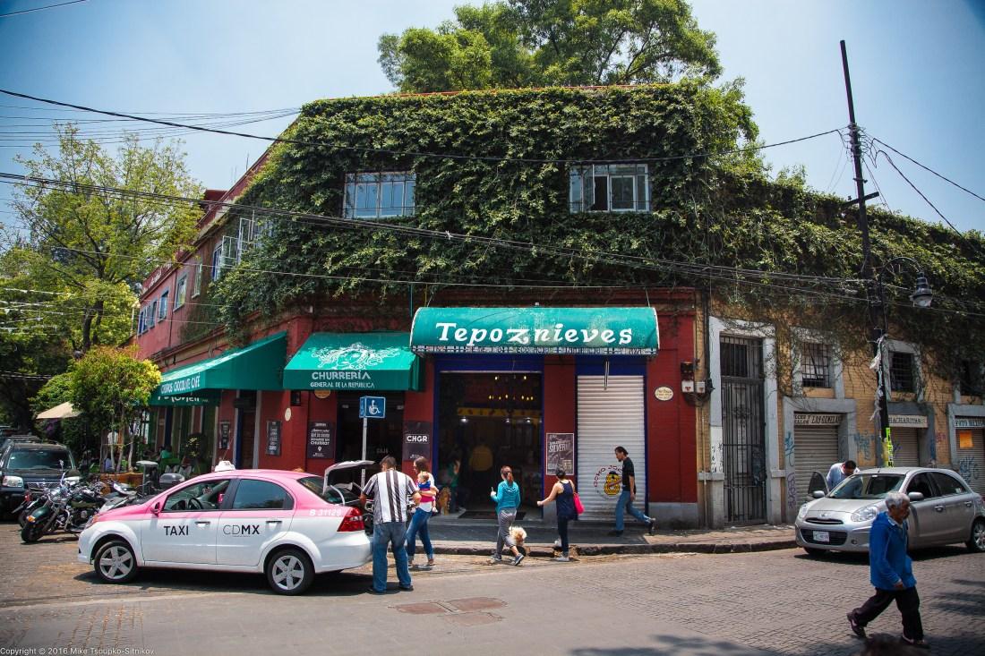 A Churrería store in Coyoacán