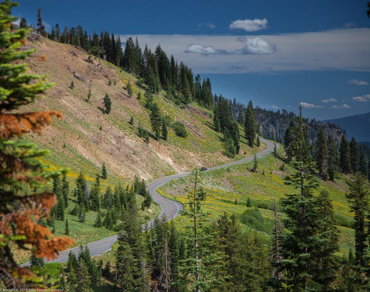 Lassen Peak Highway - a view from Ridge Lake Trail