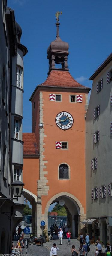 Regensburg. The Bridge Tower.