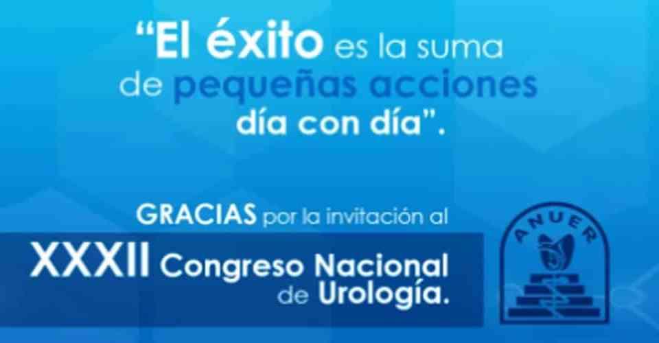DEMESA agradece la invitación al XXXII Congreso Nacional De Urología