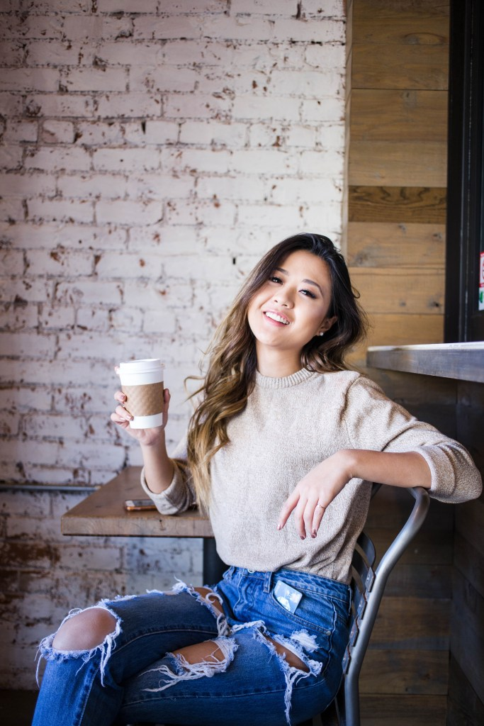 February Recap - Coffee Shop Shoot - Demi Bang - Shelby Bell