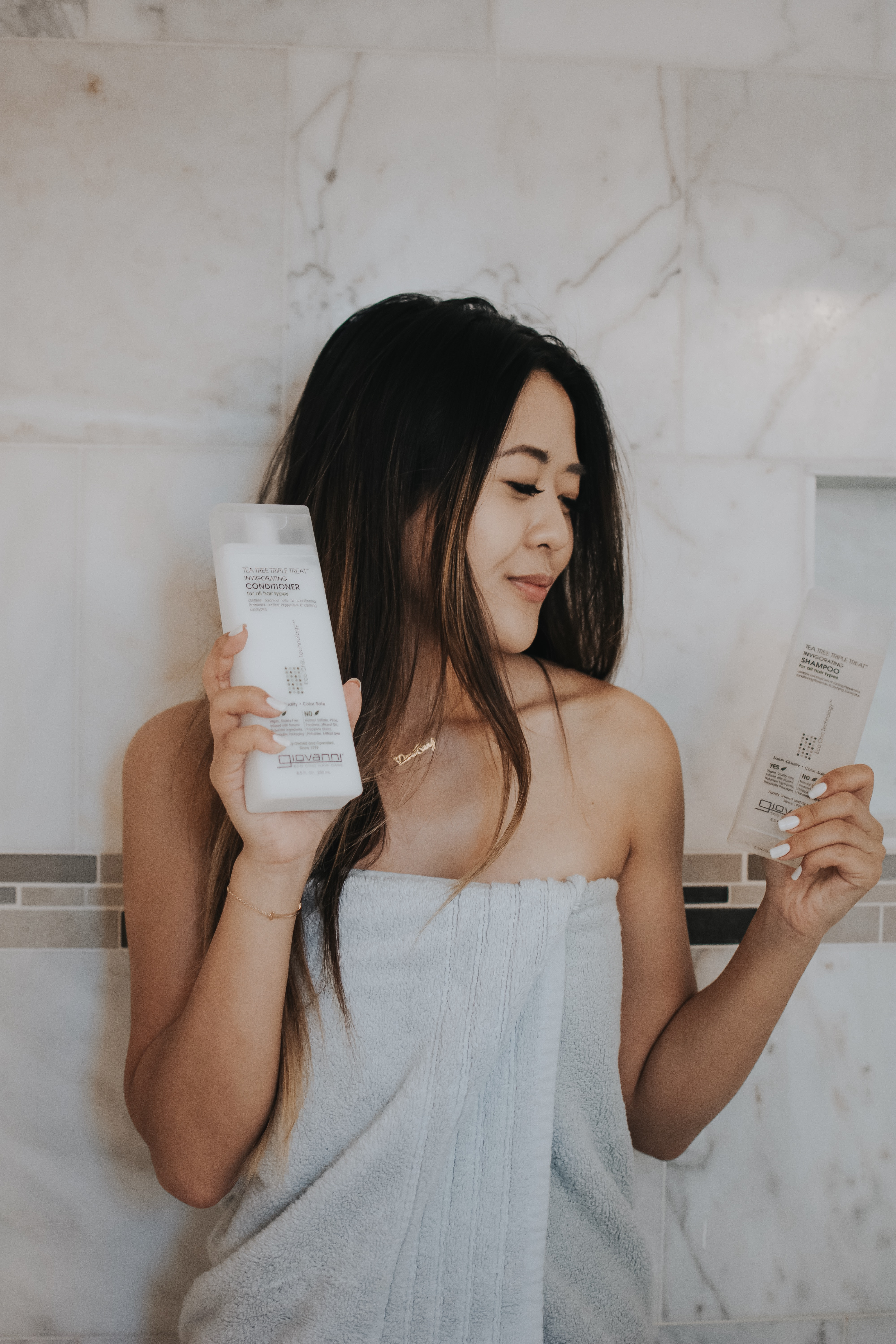 Demi Bang talks about vegan and cruelty hair products, Giovanni Eco Chic Hair Care.