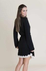 Lady Godiva Classic Robe back Black