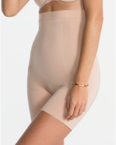 OnCore High-Waisted Mid-Thigh Short soft nude front