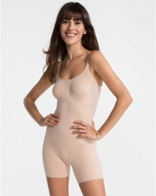 OnCore Mid-Thigh Bodysuit soft nude