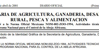 Nombre oficial mexicana NOM-002-ZOO-1994