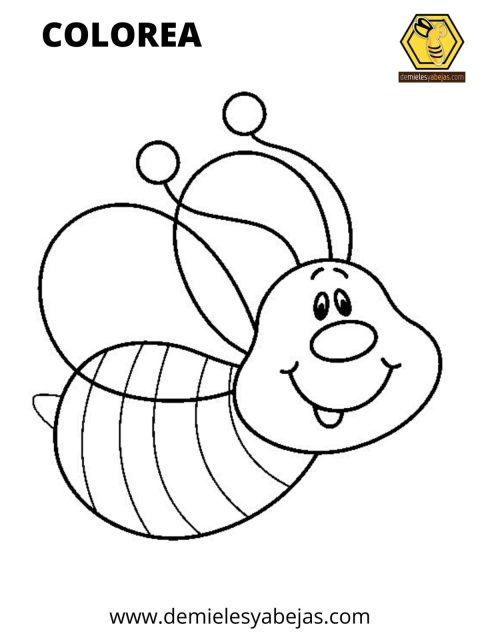 ¿Ya no sabes que hacer con los niños en casa? Descarga estas divertidas imágenes de abejitas, imprímelas y pónganse a dibujar en familia