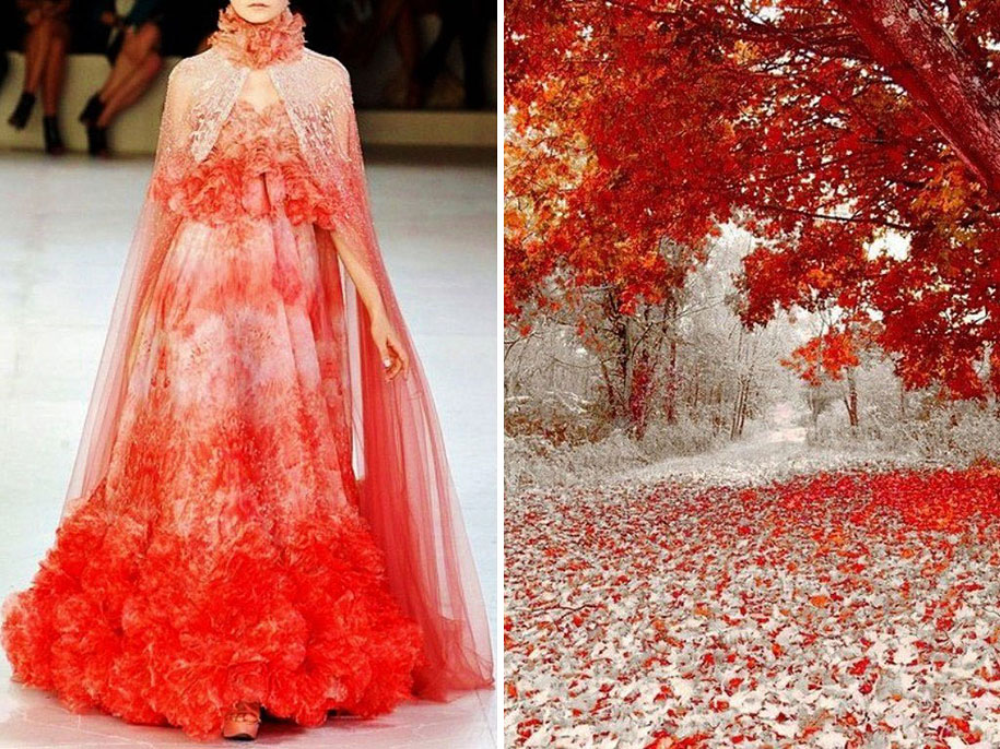 Fashion Inspired By Nature: Russian Artist Compares Famous