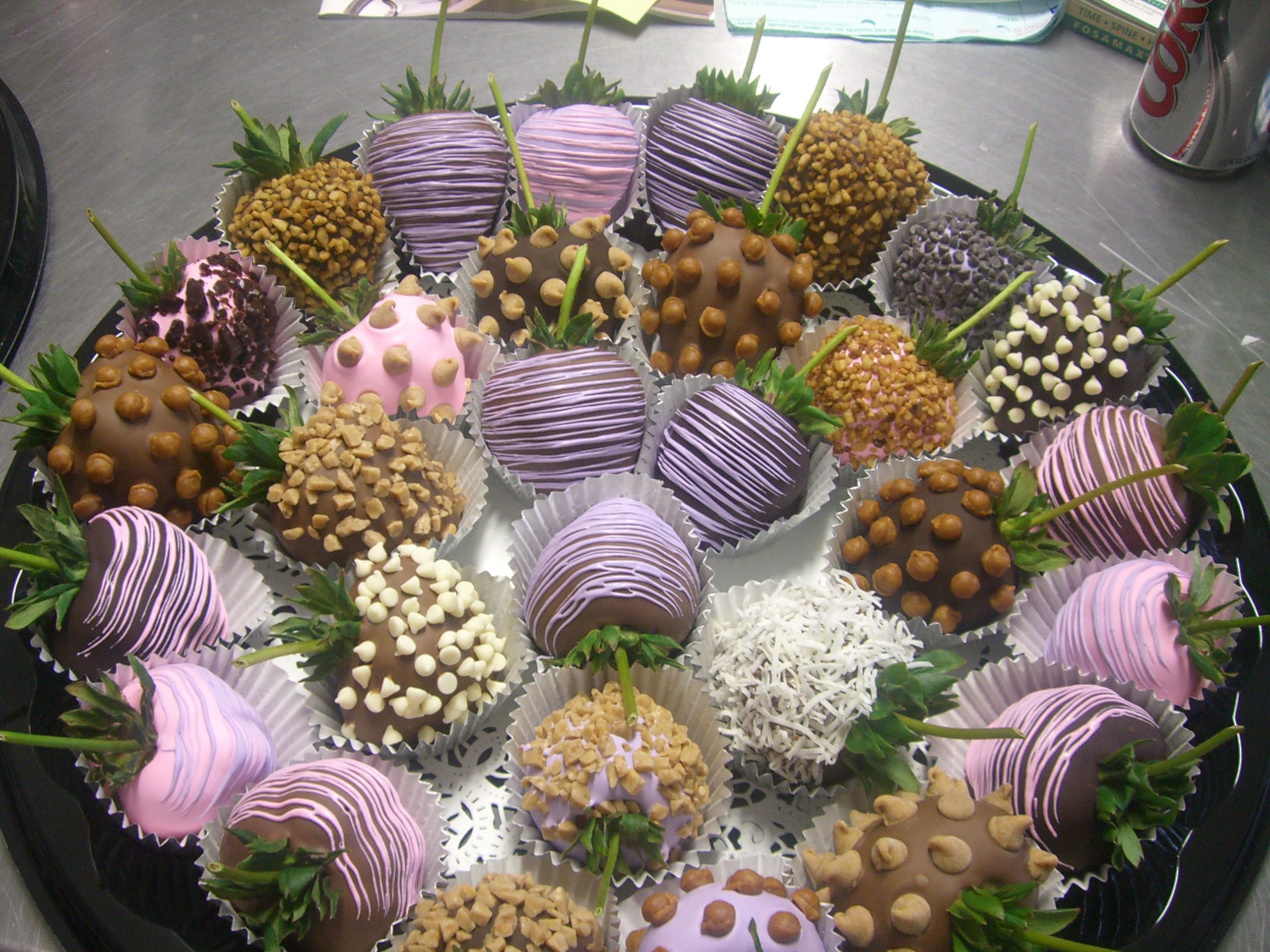 Chocolate Covered Strawberries Bouquet Ideas