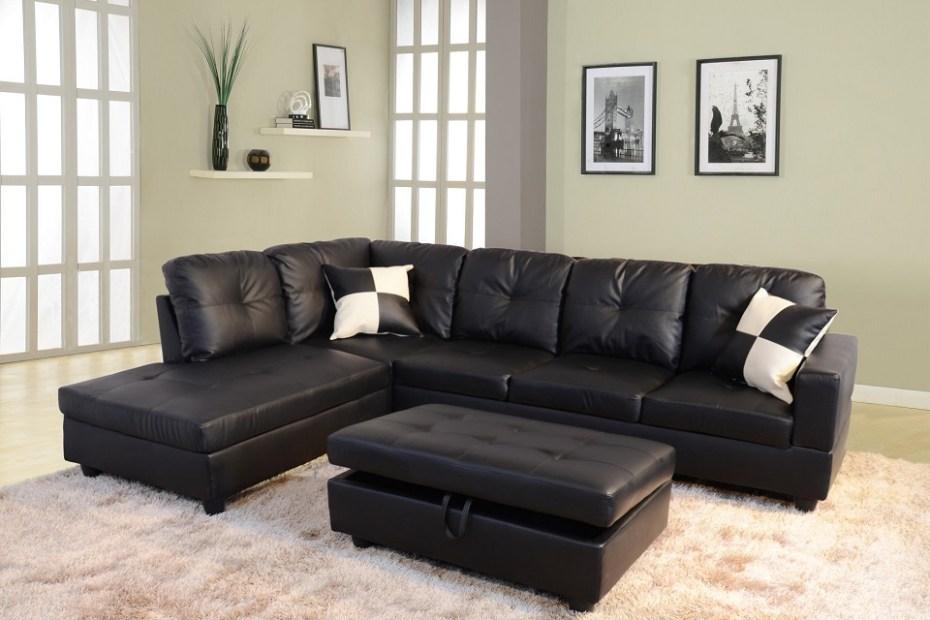 Raphael Faux Leather Living Room Set