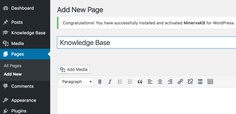 Create home page
