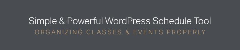 Timetable WordPress Plugin - Weekly Class Schedule